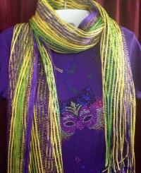 Mardi Gras Striped Scarf