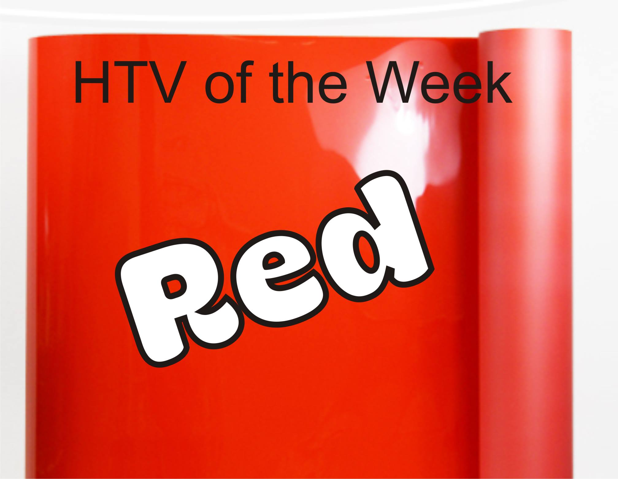"""Color of the Week - Red HTV 20""""x3 feet"""