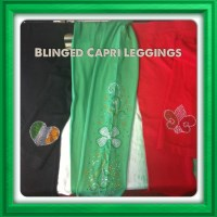 Rhinestone Capri Leggings