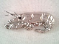 Silver Crawfish Necklace