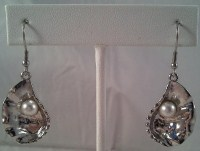 Silver Oyster Earrings