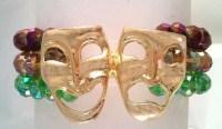 Mardi Gras Beaded Bracelet