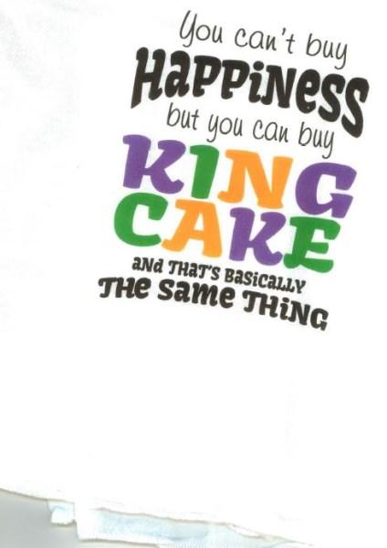 Mardi Gras King Cake Flour Sack Towel