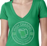 Irish Channel Drinking Krewe Rhinestone Shirt