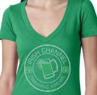 Irish Channel Drinking Krewe Rhinestone Shirt