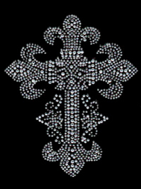 Fleur de Lis Cross Transfer Design