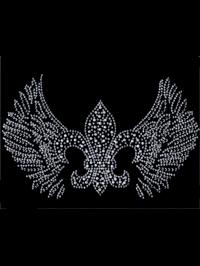 Fleur de Lis with Wings Hot Fix Motif
