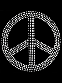 Large Peace Sign Transfer - 4 Row