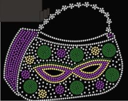 Masquerade Purse Rhinestone Transfer