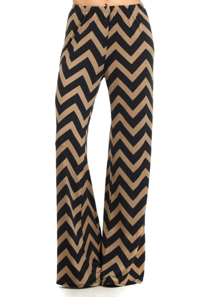 Black and Gold Palazzo Pants