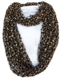 Confetti Scarf -Black and Gold Infinity