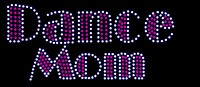 Dance Mom Rhinestone/stud Transfer