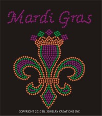 Fleur de Lis with Crown & Mardi Gras Shirt