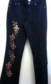 Fleur de Lis Jeans with Rhinestones