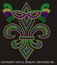 Masked Mardi Gras Fleur de Lis Shirt
