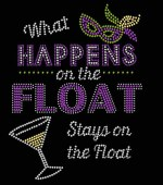 What Happens on the Float Mardi Gras Shirt
