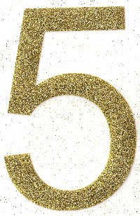 Small Glitter Number Single Digit