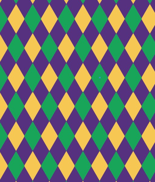 Mardi Gras HTV Diamond Pattern