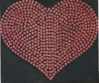 Large Sequin Heart Transfer