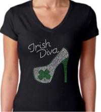 Irish Diva High Heel Shirt