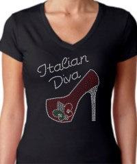 Italian Diva High Heel Shirt