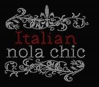 Italian NOLA Chic Rhinestone Transfer