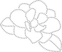Large Rhinesone Magnolia Transfer - Outline