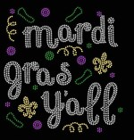 Mardi Gras Y'all Iron-on