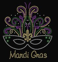 Sequin Mardi Gras Mask 2 Shirt