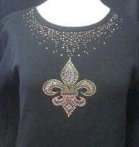 Mardi Gras Neckline Shirt
