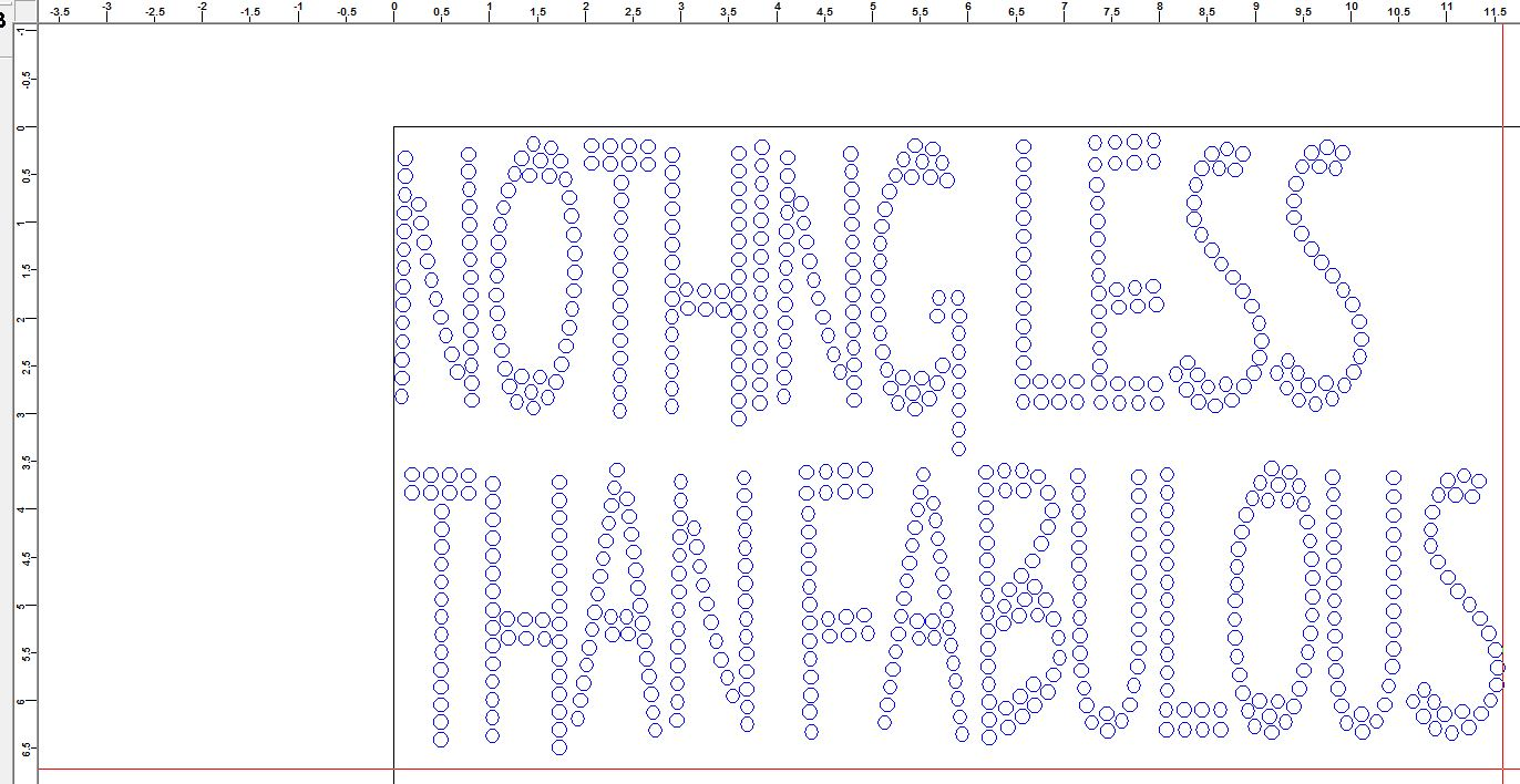 Custom Rhinestone Transfer - Nothing Less than fabulous