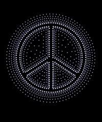 Peace Sign Burst Design Transfer
