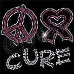 Peace Love Cure Rhinestones