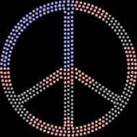 Patriotic Peace Rhinestone Transfer