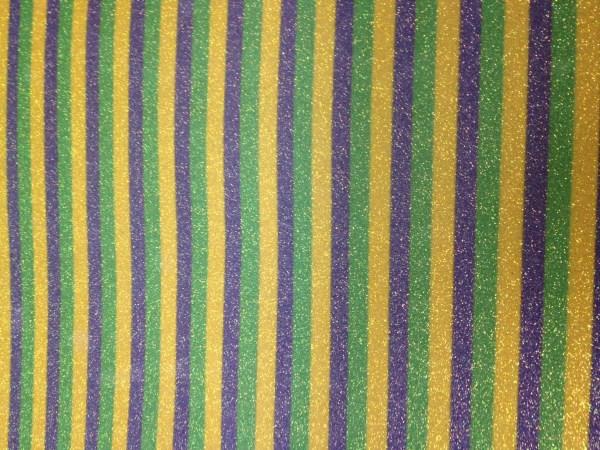 Mardi Gras Stripes Glitter HTV