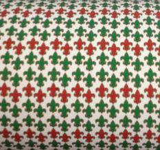 Christmas Fleur de Lis Vinyl