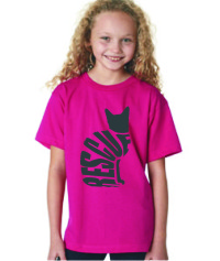 RESCUE CAT - KIDS SHIRT HOT PINK