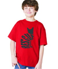 RESCUE CAT - KIDS SHIRT RED