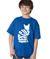RESCUE CAT - KIDS SHIRT BLUE