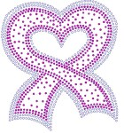 Breast Cancer Ribbon Heart Shaped