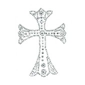 Simple Rhinestone Cross Transfer