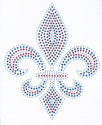 Red, White and Blue Fleur de Lis
