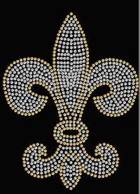 Hot Fix Sequin Transfer Fleur de Lis 2331