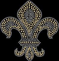 Spangle Fleur de Lis 3079