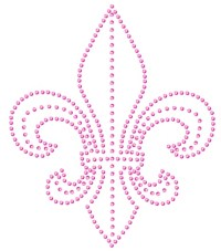 Outline Fleur de Lis Sequin Applique