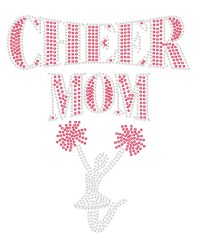 Cheer Mom with Girl Sequin Transfer