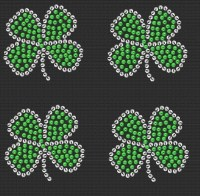 Sequin Clover - Sheet of 4