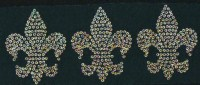 3 Small Fleur de Lis Spangle Motif