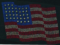 Large American Flag Spangle Design
