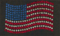 Small Sequin American Flag Transfer